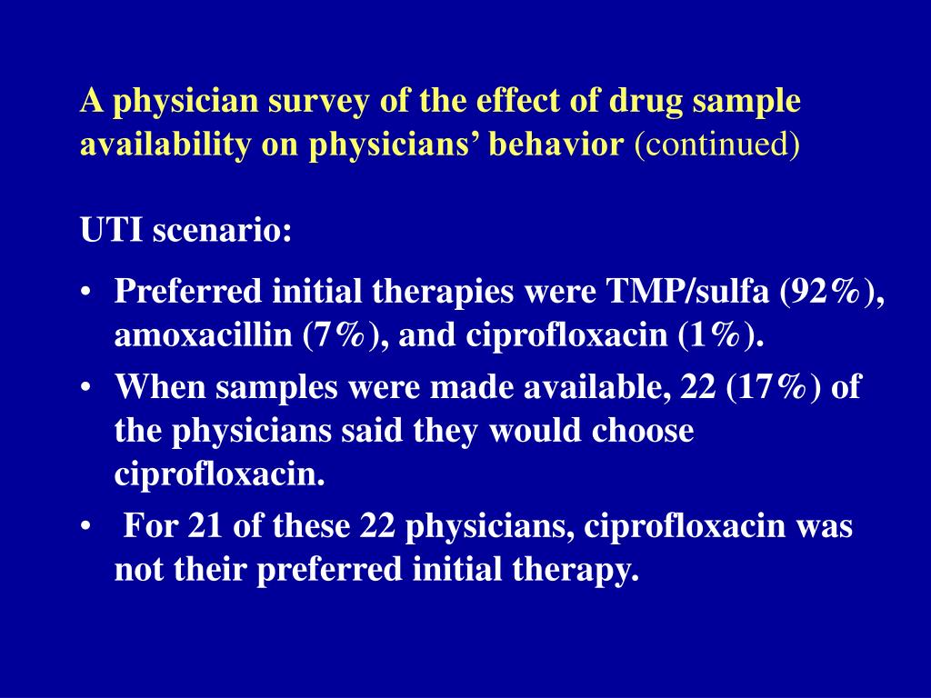A physician survey of the effect of drug sample availability on physicians' behavior