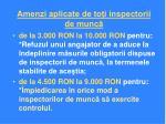 amenzi aplicate de to i inspectorii de munc