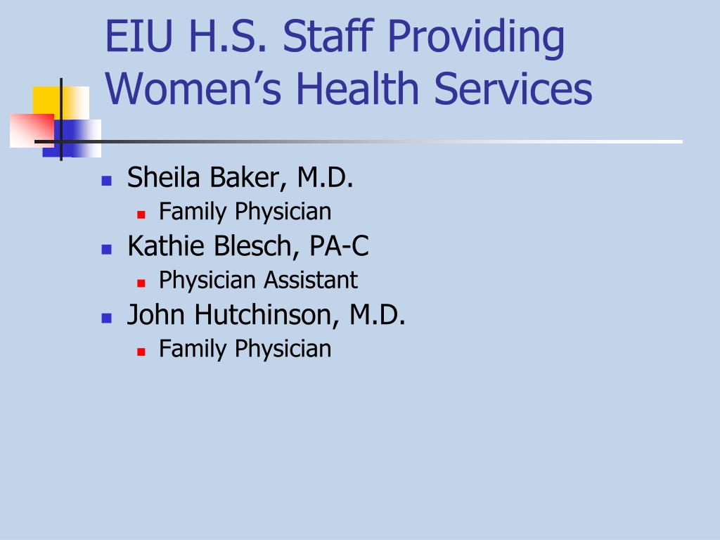 EIU H.S. Staff Providing