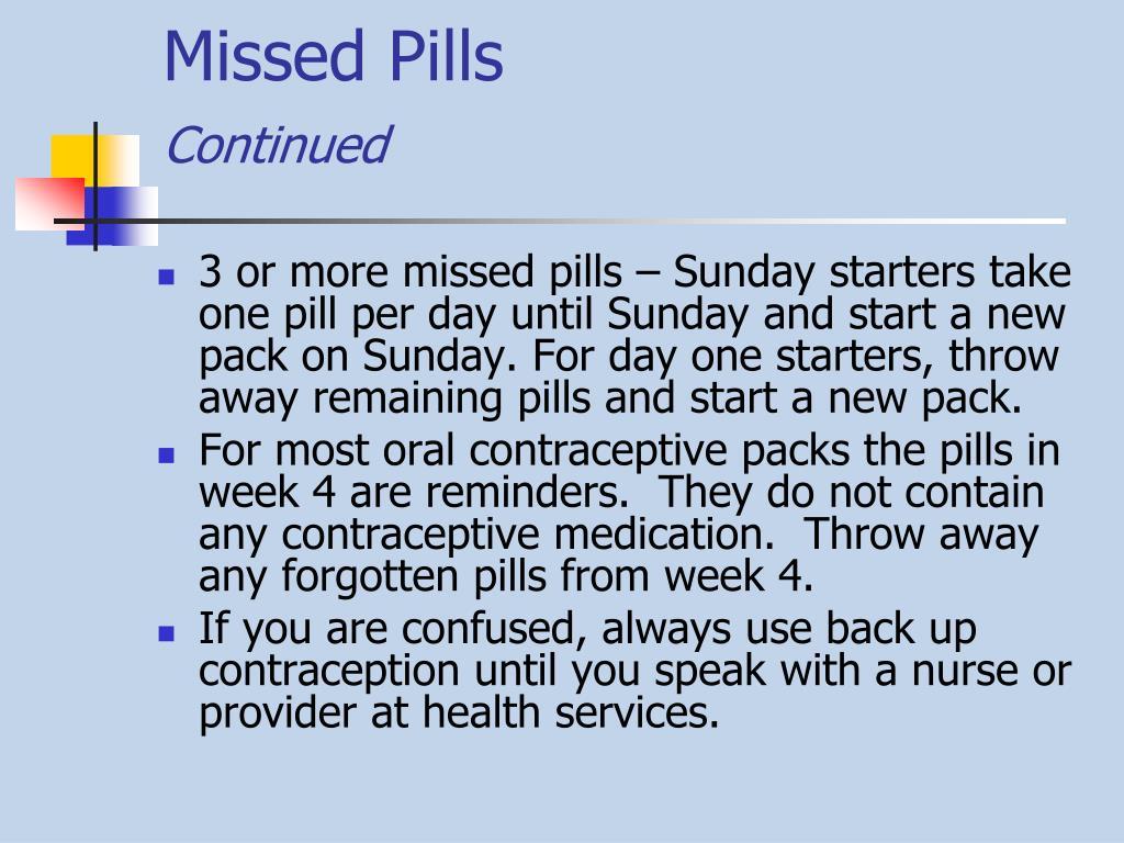Missed Pills