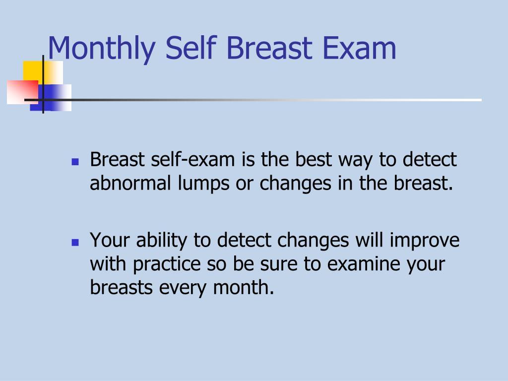 Monthly Self Breast Exam