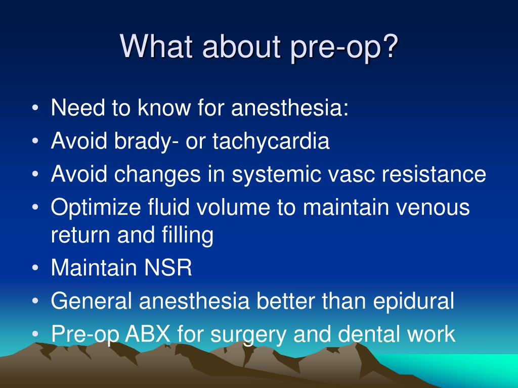 What about pre-op?