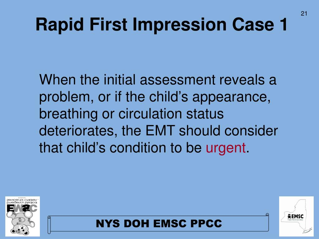Rapid First Impression Case 1