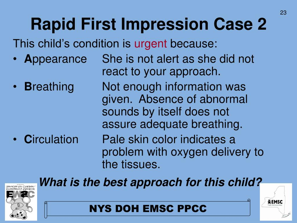 Rapid First Impression Case 2