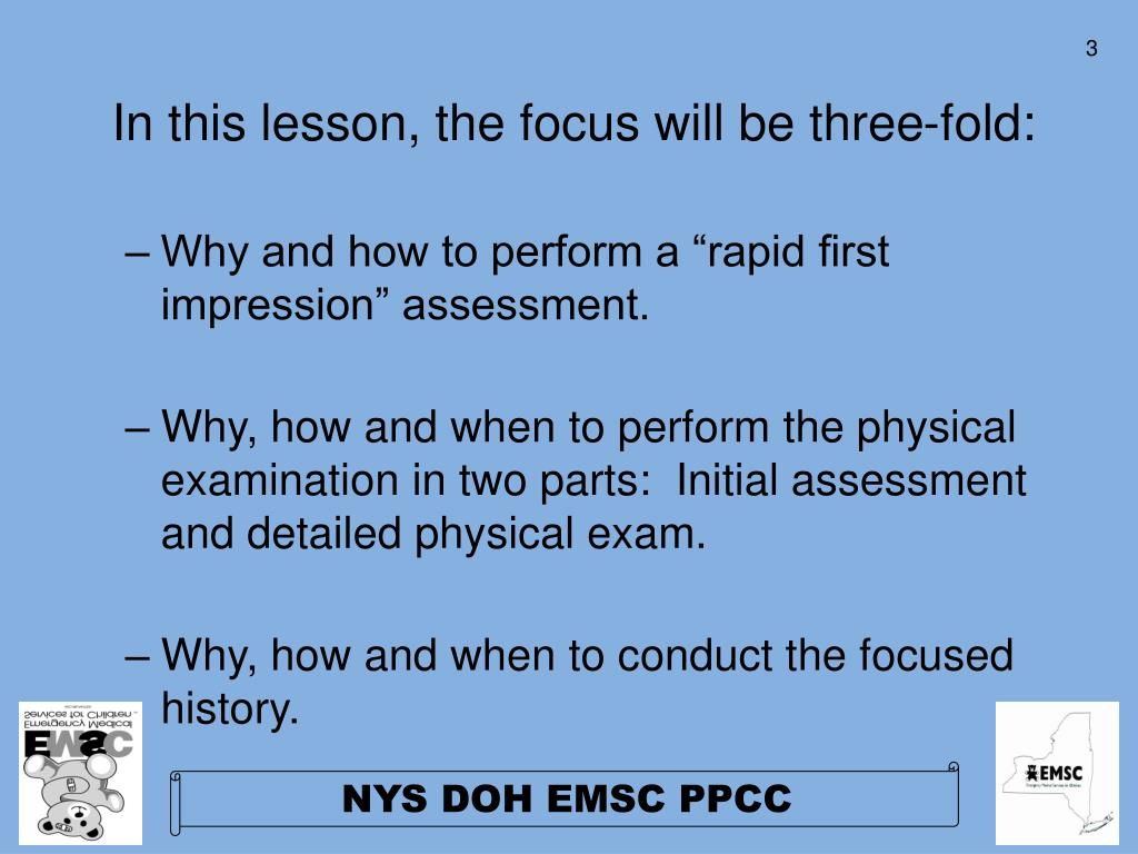 In this lesson, the focus will be three-fold: