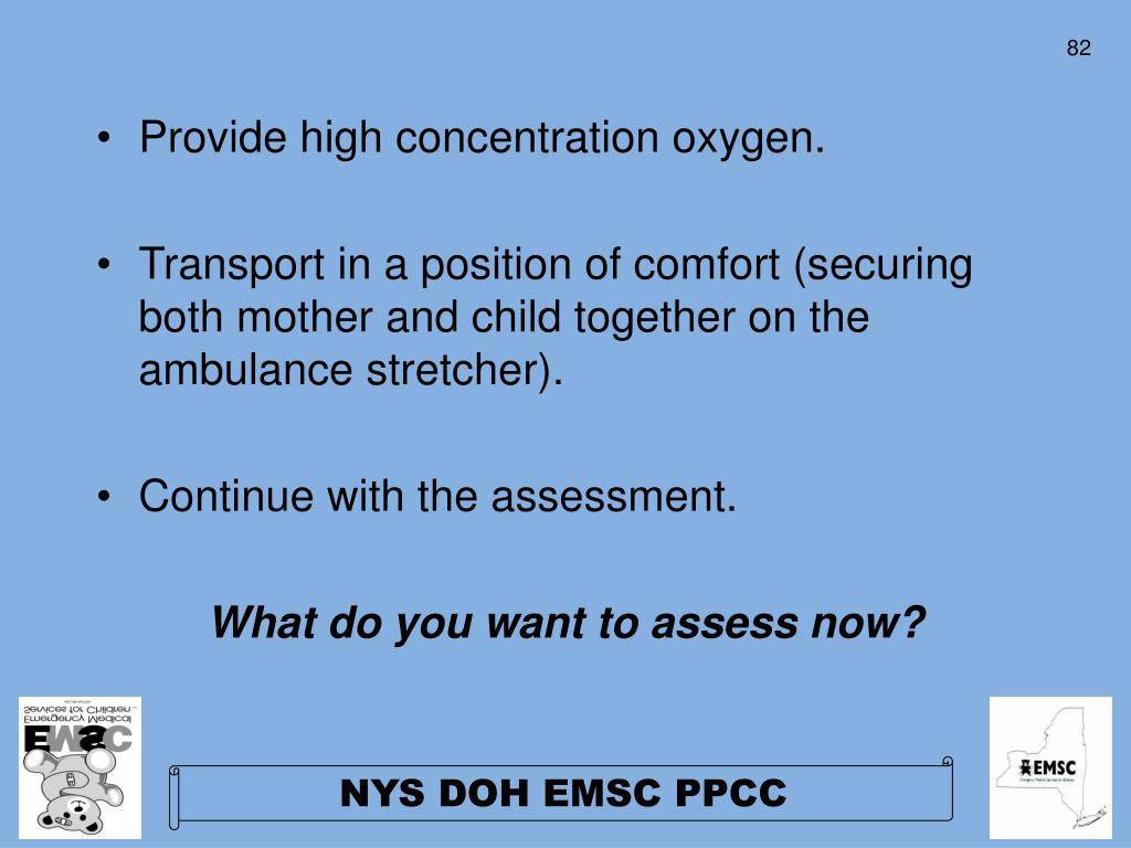 Provide high concentration oxygen.