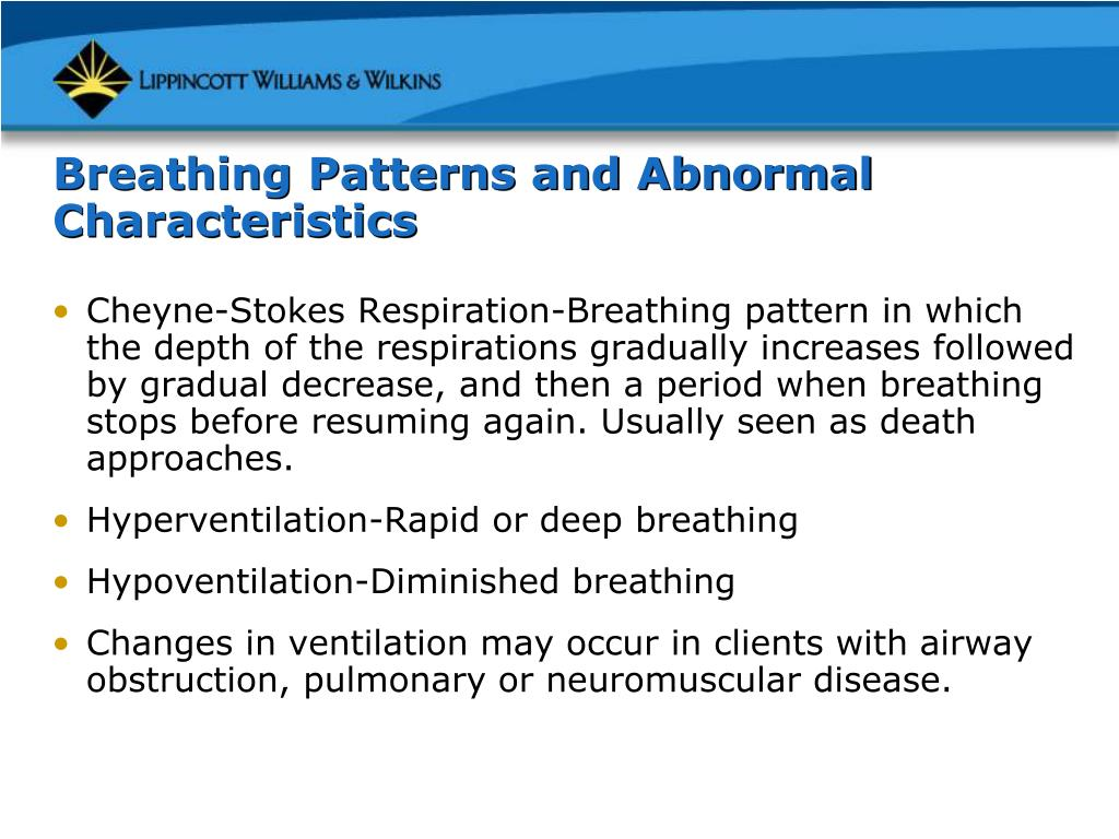 Breathing Patterns and Abnormal Characteristics