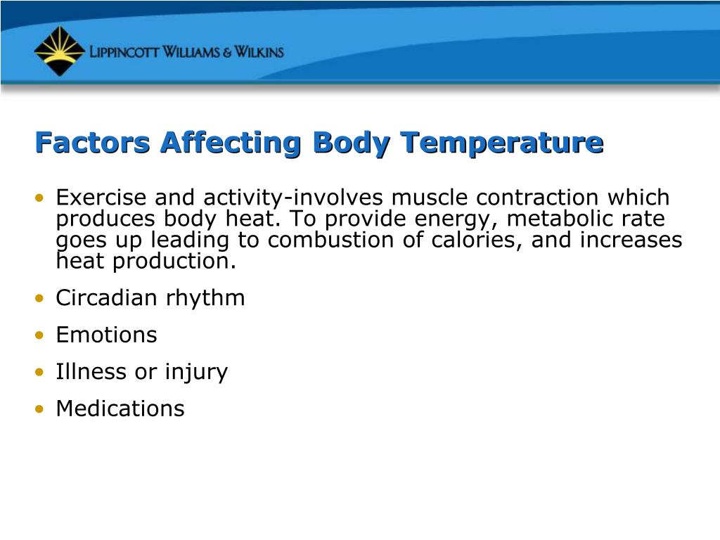 Factors Affecting Body Temperature