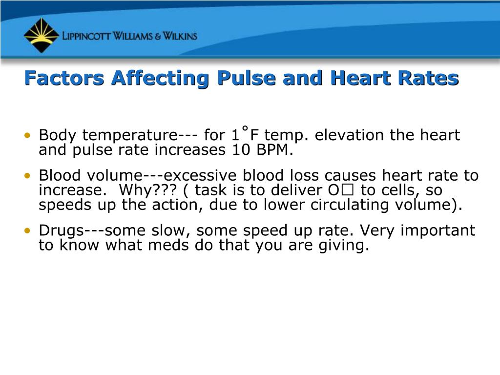 Factors Affecting Pulse and Heart Rates