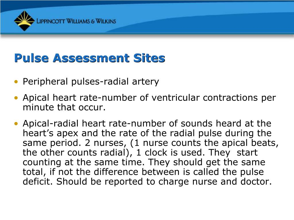 Pulse Assessment Sites