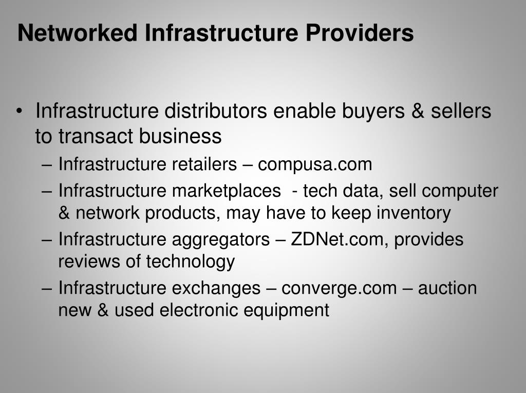 Networked Infrastructure Providers