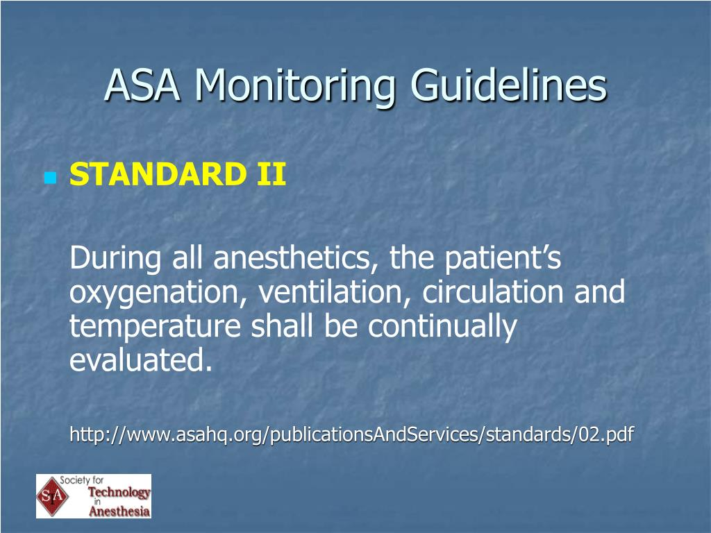 ASA Monitoring Guidelines