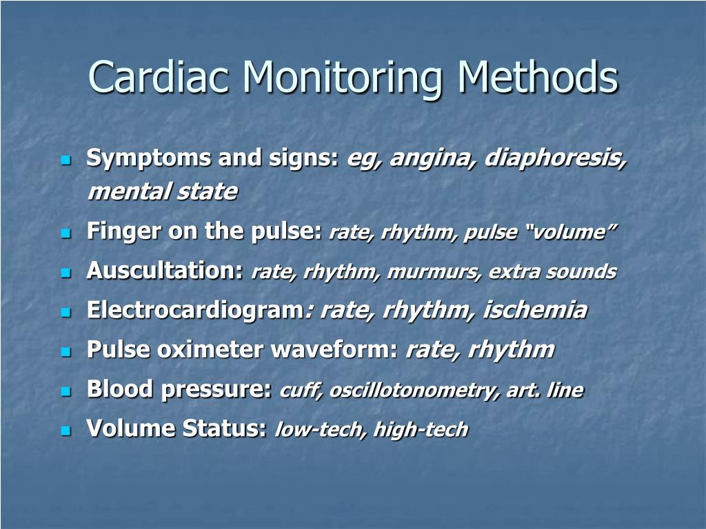 Cardiac Monitoring Methods