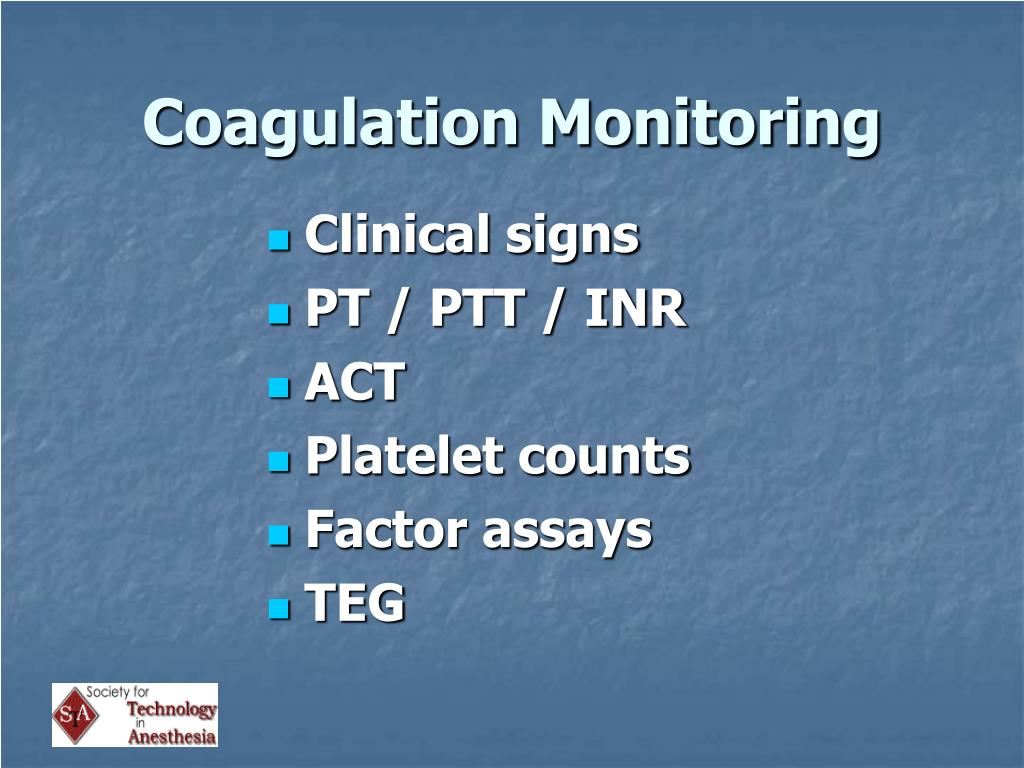 Coagulation Monitoring