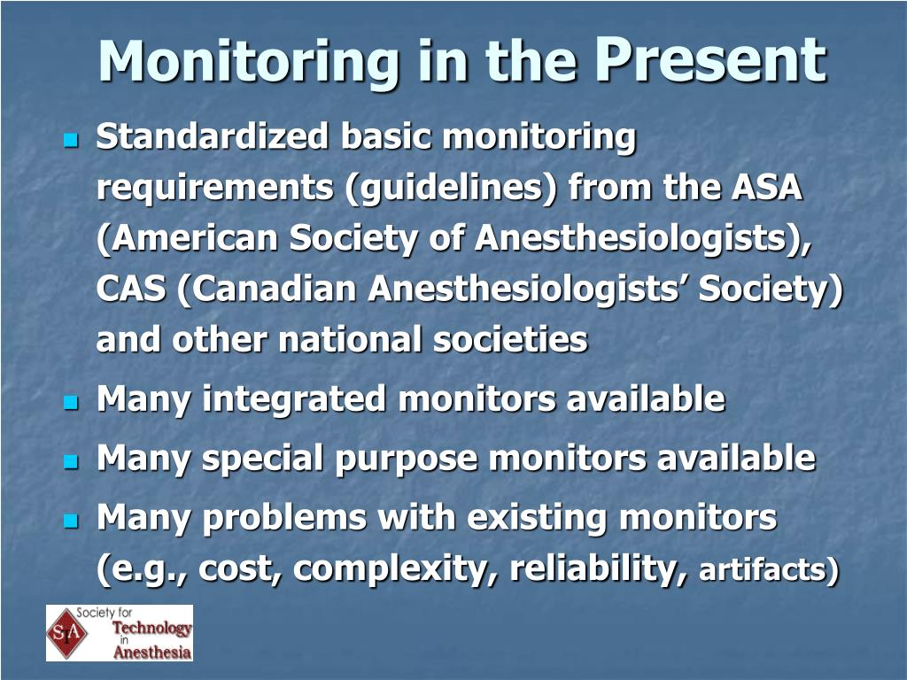 Monitoring in the
