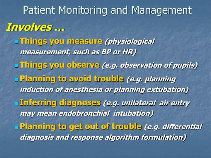 Patient monitoring and management