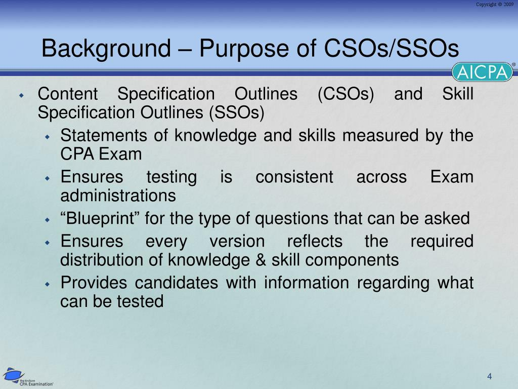 Background – Purpose of CSOs/SSOs