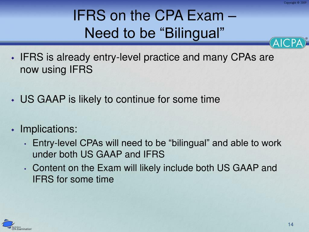 IFRS on the CPA Exam –