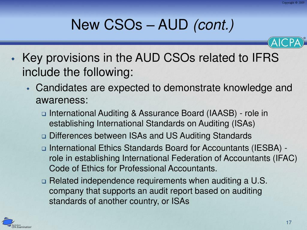 New CSOs – AUD