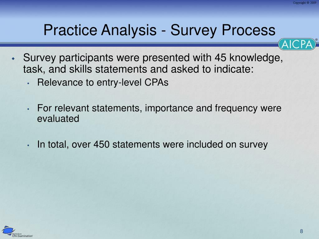 Practice Analysis - Survey Process