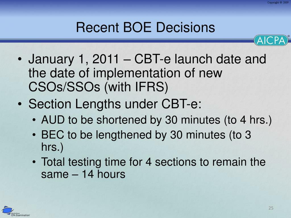Recent BOE Decisions