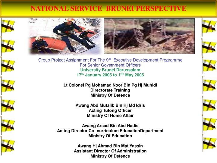 NATIONAL SERVICE  BRUNEI PERSPECTIVE