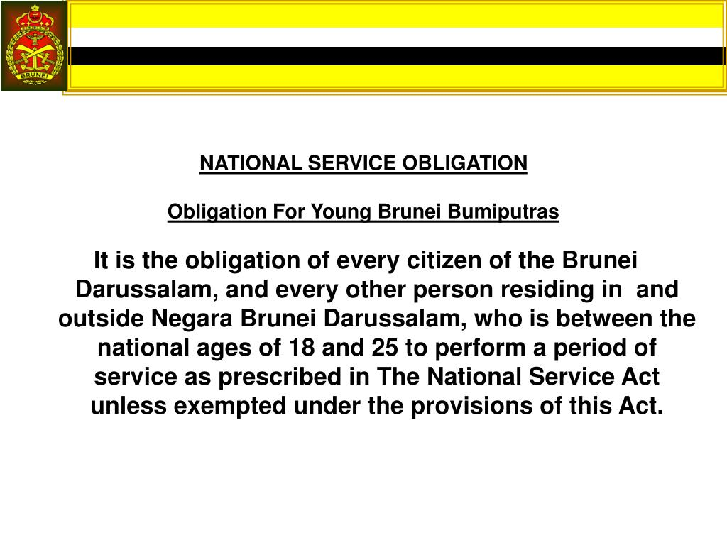 NATIONAL SERVICE OBLIGATION