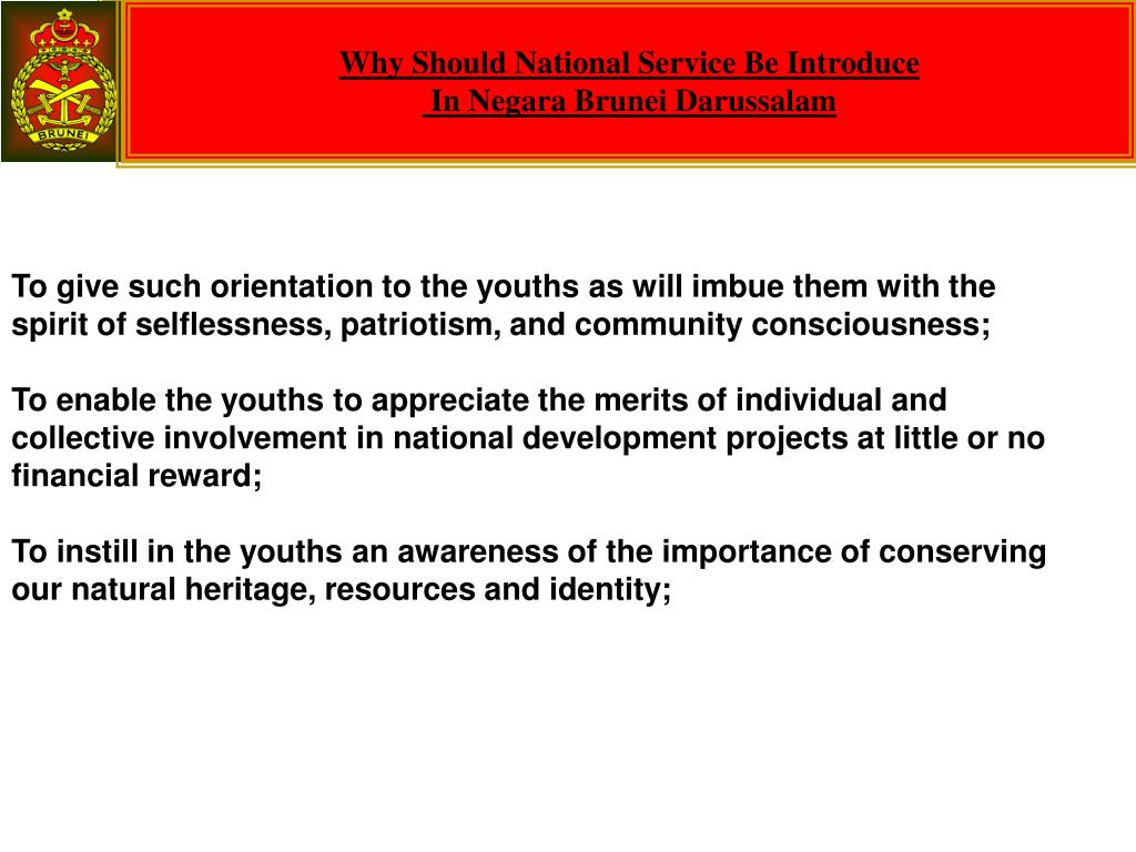 Why Should National Service Be Introduce
