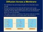 diffusion across a membrane