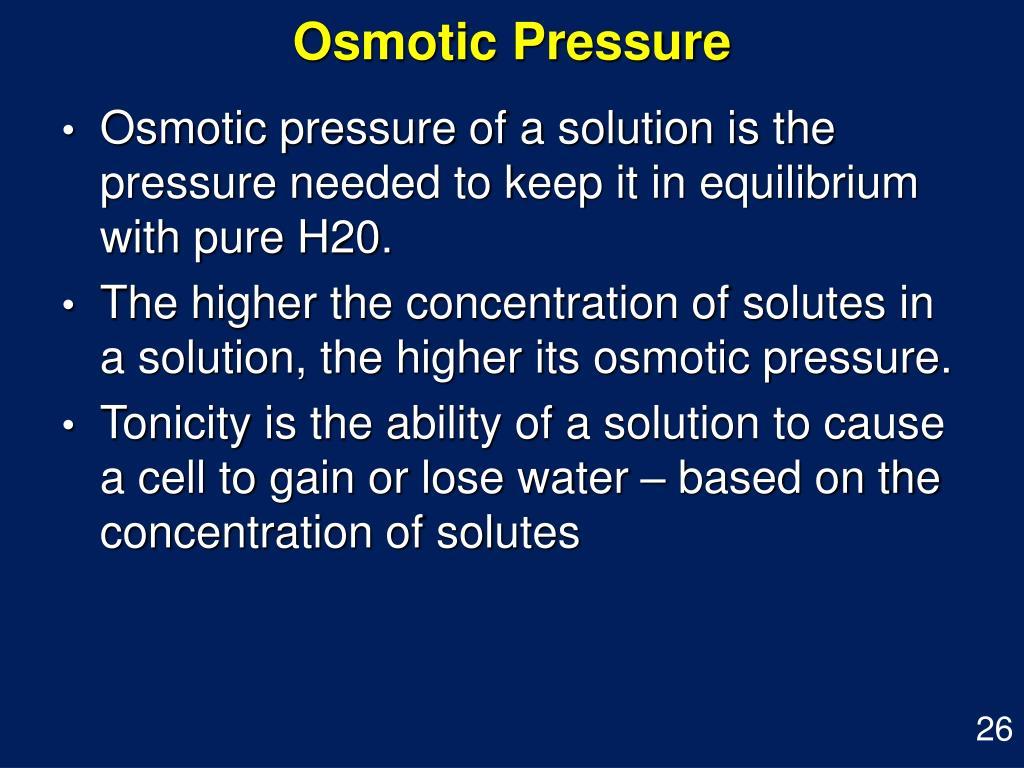Osmotic Pressure