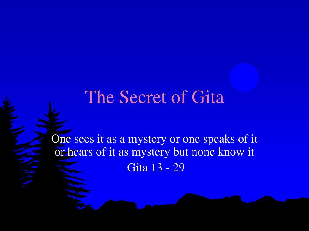 The Secret of Gita