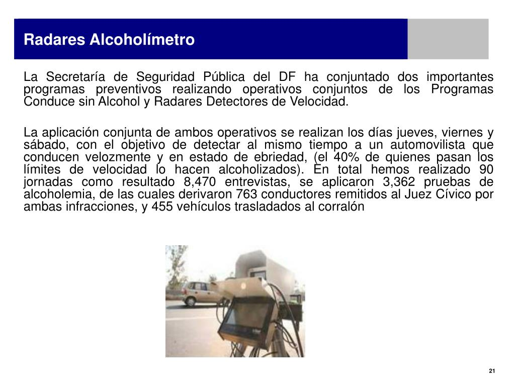 Radares Alcoholímetro