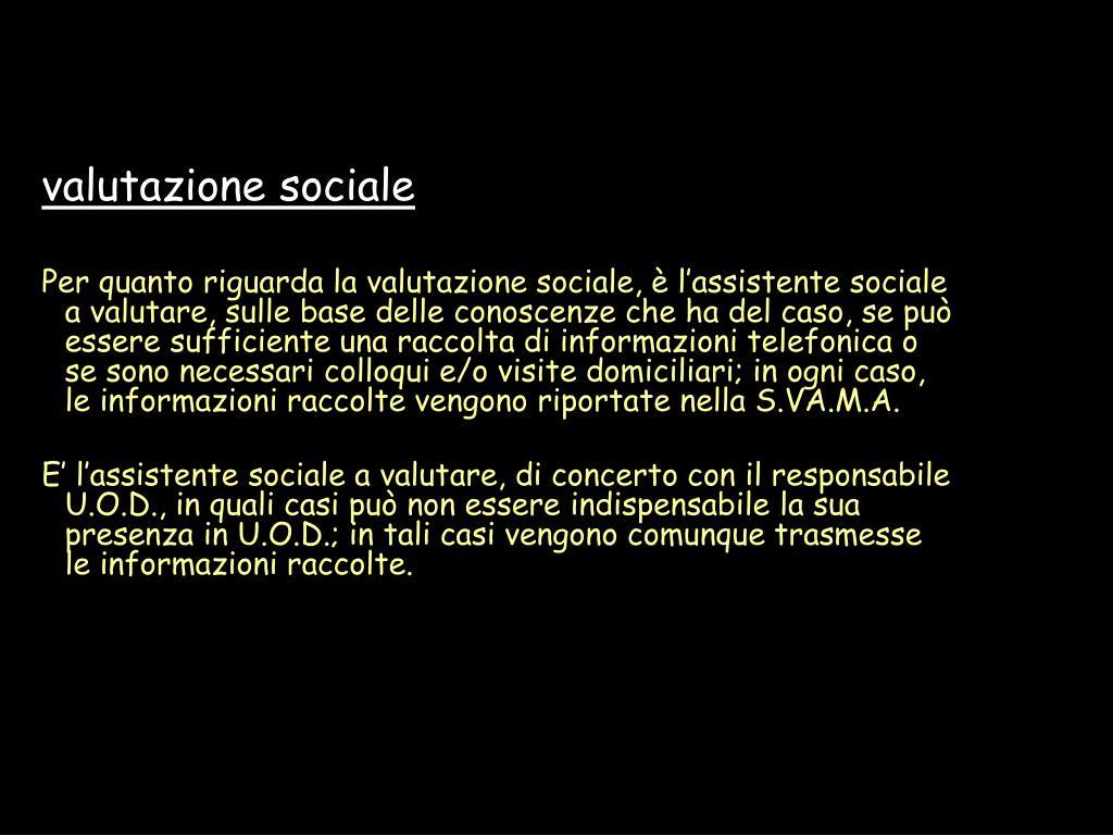 valutazione sociale