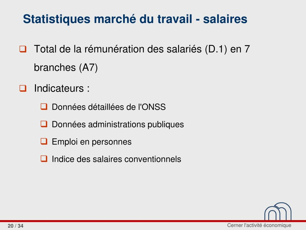Statistiques marché du travail - salaires