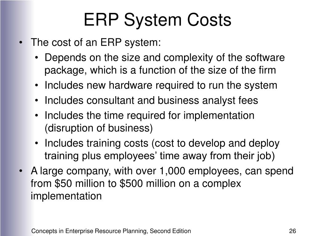 ERP System Costs