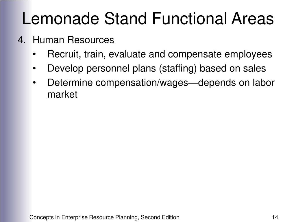 Lemonade Stand Functional Areas