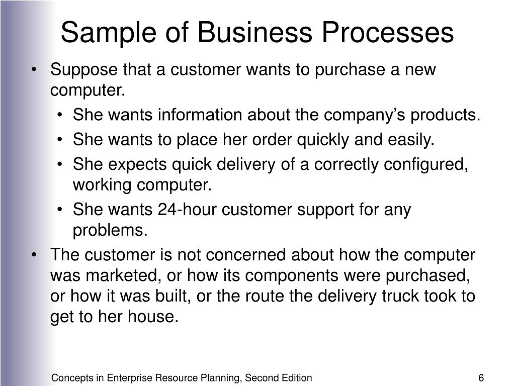 Sample of Business Processes