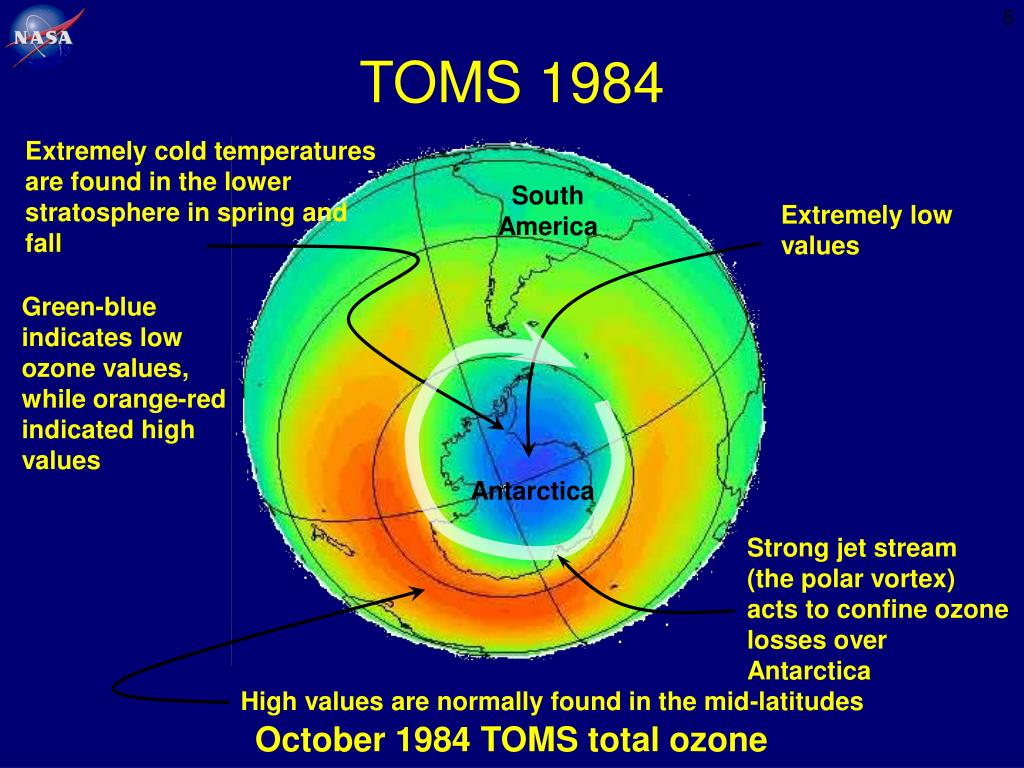 Extremely cold temperatures are found in the lower stratosphere in spring and fall