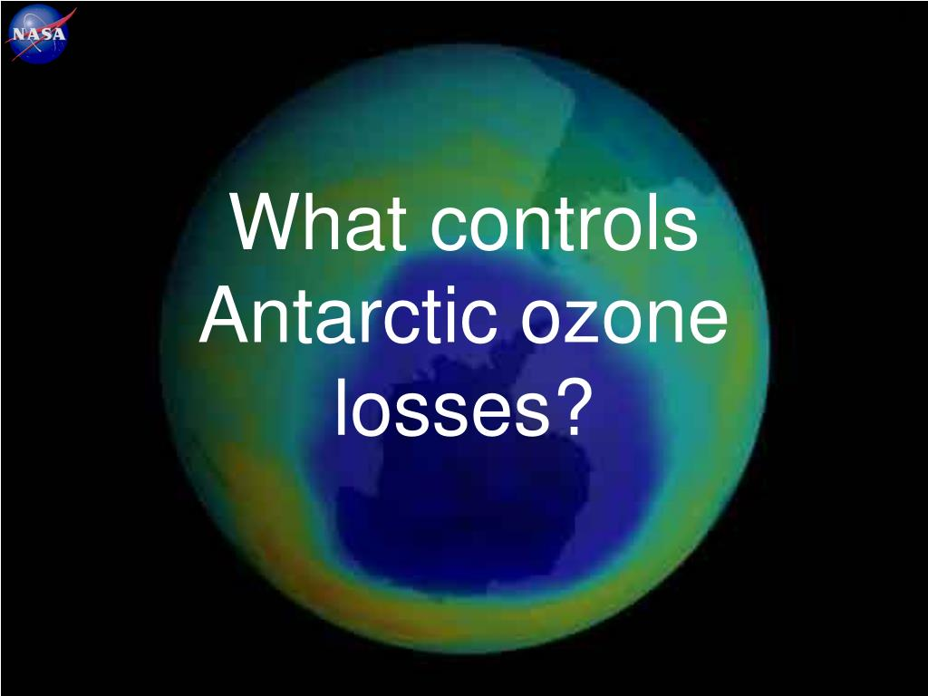What controls Antarctic ozone losses?