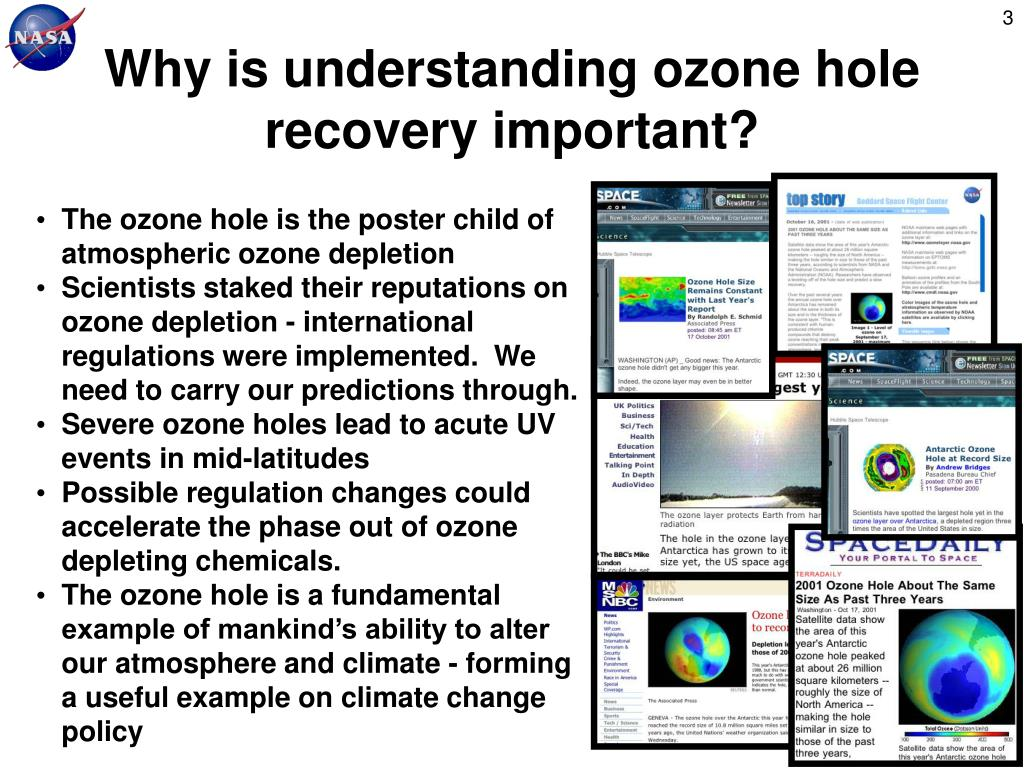Why is understanding ozone hole recovery important?