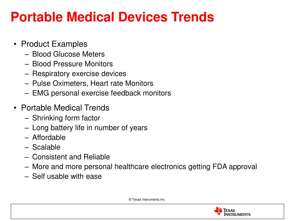 Portable Medical Devices Trends