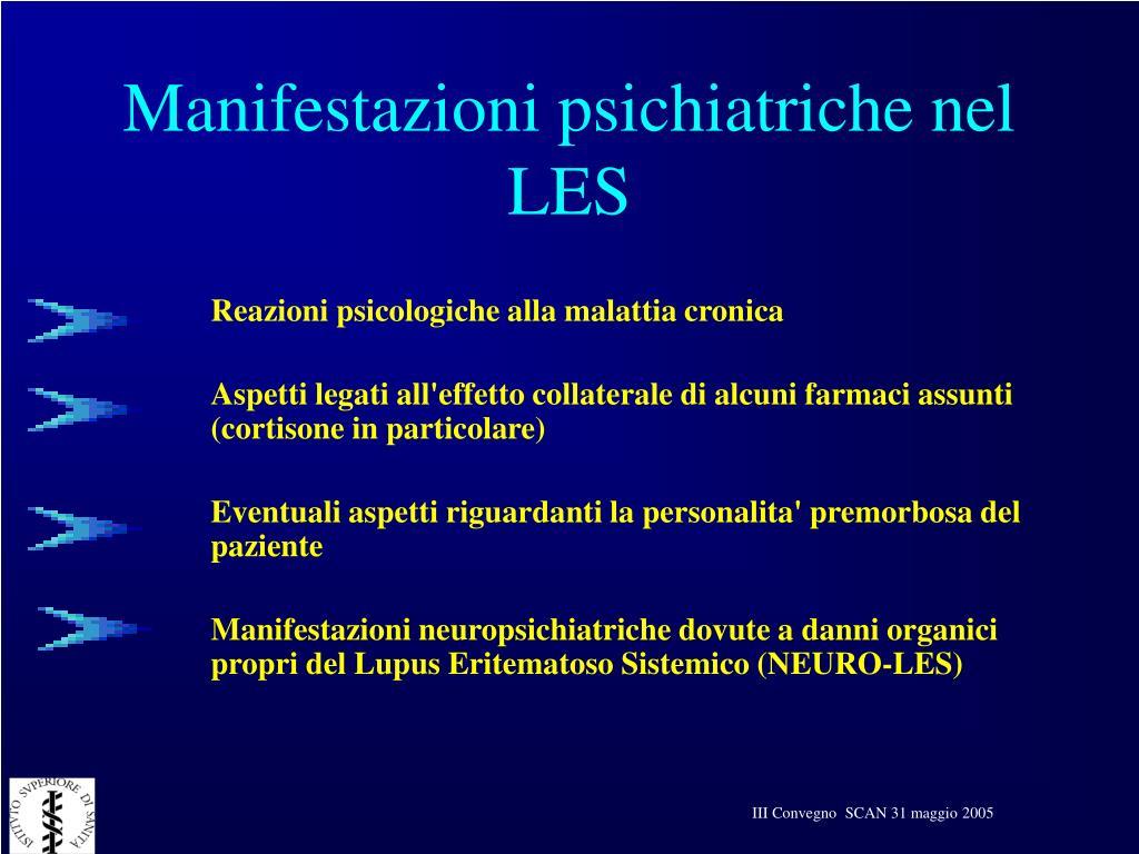 Manifestazioni psichiatriche nel LES