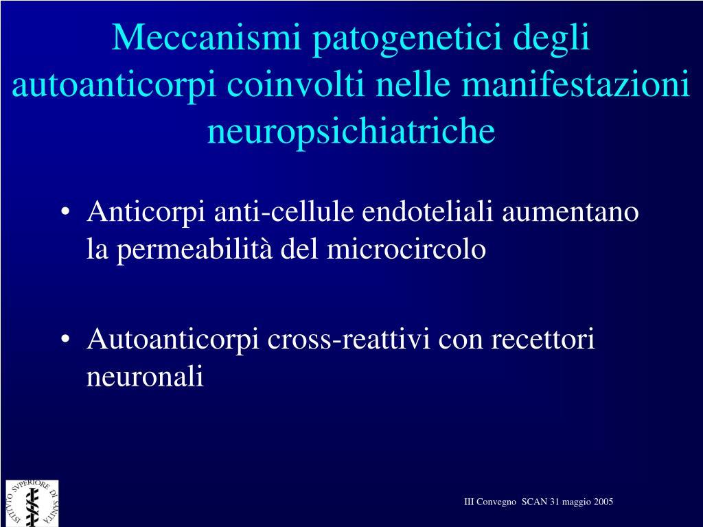 Meccanismi patogenetici degli autoanticorpi coinvolti nelle manifestazioni neuropsichiatriche