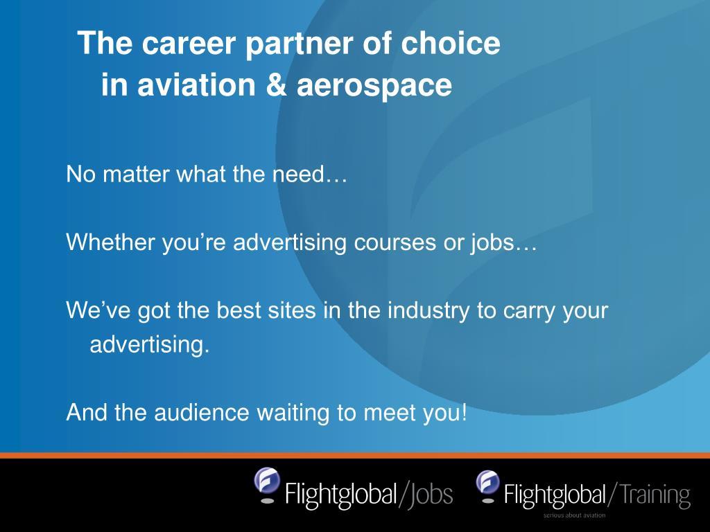 The career partner of choice in aviation & aerospace
