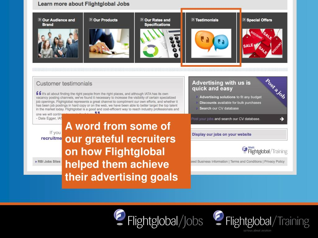 A word from some of our grateful recruiters on how Flightglobal helped them achieve their advertising goals