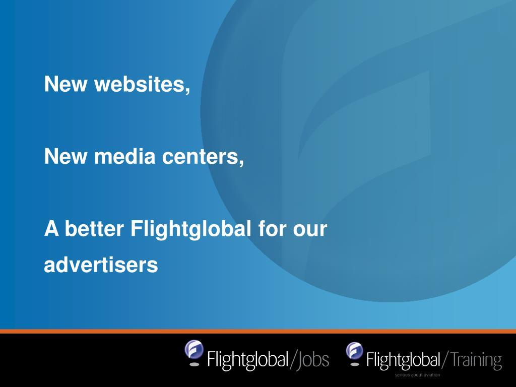 New websites,
