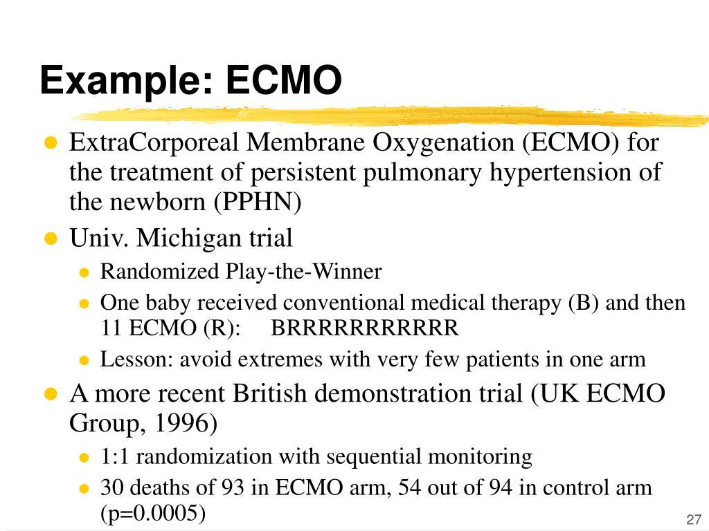 Example: ECMO