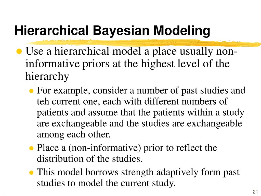 Hierarchical Bayesian Modeling