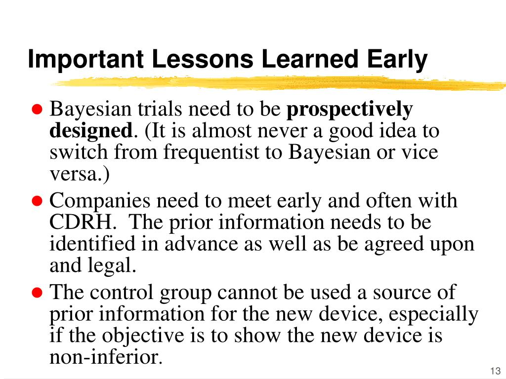 Important Lessons Learned Early