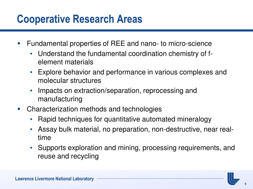 Cooperative Research Areas